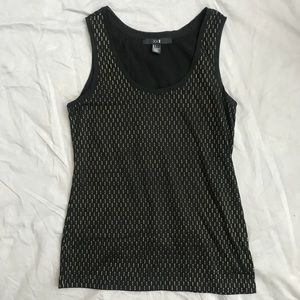 Forever 21 blank tank with gold detail